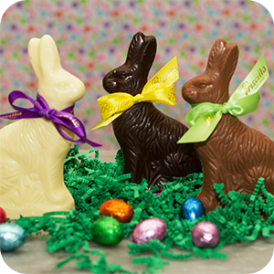 Solid Chocolate Easter Bunny - 6 oz.