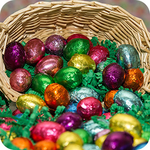 Foil Covered Chocolate Easter Eggs