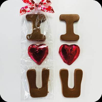 I-Heart-U Solid Chocolate