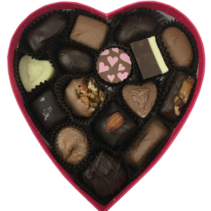 Heart Shaped Box Assorted Chocolates, 8 oz.